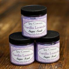 Vanilla Lavender Sugar Scrub by IvyCoreenBathBody on Etsy, $5.95