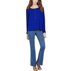 Comemall Womens Chiffon Long Sleeve Backless Blouse TShirts ** Check out this great product.