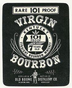 Virgin Kentucky Bourbon Whiskey Label