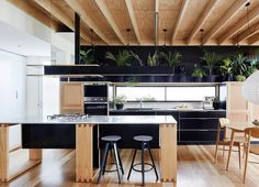 Casinha colorida: Usando banquetas nas cozinhas