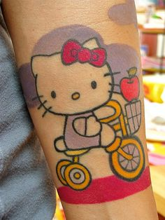 my best mate told me that I couldn't get a hello Kitty tattoo. Well apparently its possible - see what this person did!