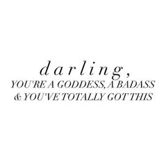 You've got this! 💪 loveyourself love women woman strong strength darling badass quote quotes inspiration motivation is part of Badass quotes women - Badass Quotes Women, Strong Women Quotes Strength, Woman Quotes, You Are Strong Quotes, You Got This Quotes, Badass Women, Strong Girl Quotes, Quotes On Women Beauty, Motivation Women Quotes