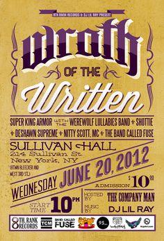 Wrath of the Written   Gig Poster   ©KupiArt, LLC.