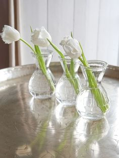 Tulips in Danish Country Vases ♥ Source: Nordic House