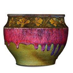 ALBERT-LOUIS DAMMOUSE Jardiniere, oxblood glaze - Price Estimate: $3000 - $4000