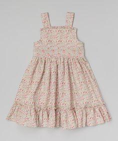 Look at this Rose Floral Ruffle Smocked Sash Dress - Infant, Toddler