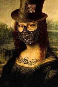 Monalisa Steam Punk -  Criação de Lucas Neres