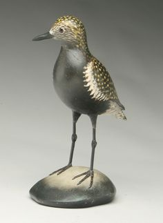Important full size black bellied plover by Elmer Crowell.