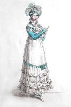 Afternoon Dress - Published in La Belle Assemblée, August 1817