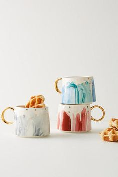 Explore Anthropologie's unique coffee mugs and teacups that make the perfect gift for yourself or a loved one. Shop our iconic monogram mugs and more. Pretty Mugs, Cute Mugs, Ceramic Cups, Ceramic Pottery, Stoneware Mugs, Mug Diy, Keramik Design, Night Skies, Coffee Cups
