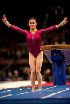Aly Raisman sticks her vault at the 2012 AT&T American Cup gymnastics meet for a score of 16.100.
