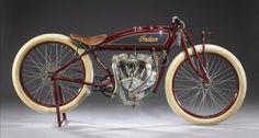 This 1920 Indian Powerplus 'Daytona' Racer sold for US$150,000 at a Bonhams sale of Steve ...