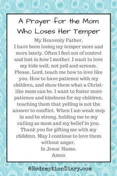 A Prayer for the Mom Who Loses Her Temper