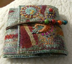 I ❤ embroidery . . . Simple wallet ~By Kay Susan