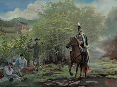 "Pulaski at the Battle of Brandywine-by Pamela Patrick White by White Historic Art ~ 16"" x 12"""