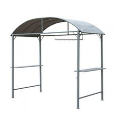 Outdoor Hardtop Circular Roof BBQ Tent Canopy Grill Gazebo with 2 Shelves for sale online Grill Gazebo, Hot Tub Gazebo, Gazebo Canopy, Small Bar Areas, Barbecue, Large Gazebo, Roof Ceiling, Small Bars, Grill Design