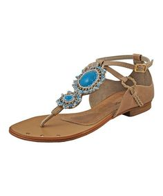 Another great find on #zulily! Blue Charm Leather Sandal #zulilyfinds