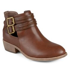 Journee Collection Shay Women's Ankle Boots, Size: 5.5, Brown