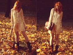 Zara Paisley Dress, Stradivarius Boots, Vintage Bag