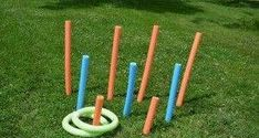 Diy Carnival Games For Kids Dollar Stores Ring Toss Ideas For 2019 Noodles Games, Pool Noodle Games, Pool Noodle Crafts, Pool Noodles, Olympic Games For Kids, Outdoor Games For Kids, Carnival Games For Kids, Carnival Ideas, Carnival Tent