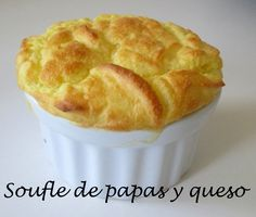 Receta: Souffle De Papas Y Queso (Muy Facil Y Rico) - Silvana Cocina Y M. Papa Recipe, Food Website, Cheese Recipes, Fondue, Macaroni And Cheese, Food To Make, Brunch, Thanksgiving, Snacks
