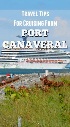 Port Canaveral cruise ship leaving past Jetty Park