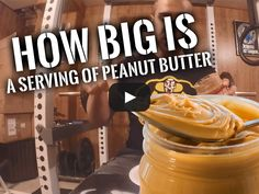 Check out this video where I show you how big a serving size of peanut butter is!