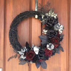 Gothic wreath Halloween wreath Halloween decor front door