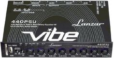 Lanzar VIBE440PSU Vibe Half DIN-In Dash 4 Band Rotary Equalizer with SD and USB MP3 Audio Reader by Lanzar. $48.32. Lanzar's VIBE-series reinvents the equalizer! This half-DIN, in-dash rotary equalizer doesn't just provide four points of equalization – it also adds an SD card slot and USB port to your sound system. Now you can listen to your favorite digital music and tweak the sound to your exact specifications! The front-face is equipped with 8 smooth rotary controls with blu...