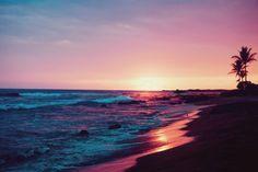 pink, purple, blue