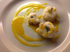Bocconcini di rana pescatrice al limone e zafferanoBocconcini gustosi di rana pescatrice con salsa di limone e zafferano