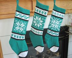 Teal Black and White Knit Christmas by SoftAndSimpleDesigns