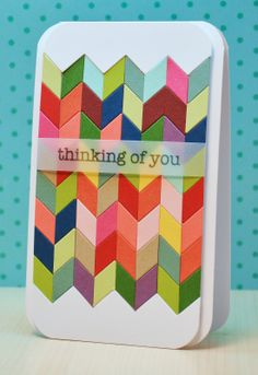 Ribbon Girls {Handmade Cards}: Deconstructed Chevrons - this card makes me swoon!