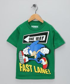 Take a look at this Green 'Fast Lane!' Sonic Tee - Kids by Sonic the Hedgehog on #zulily today!
