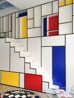 Piet Mondrian Inspired Amazing Interior Design Ideas To Give Your Home The De Stijl Flair Piet Mondrian, Mondrian Dress, Interior Decorating Tips, Interior Design, Art Design, Design Ideas, Famous Artists Paintings, Art Abstrait, Architecture Design