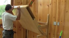 I'm building a nice folding shelf to hold my X-Carve, its electronic components and my laptop out of the way up on the wall. Alain Vaillancourt 2015 Music: W...