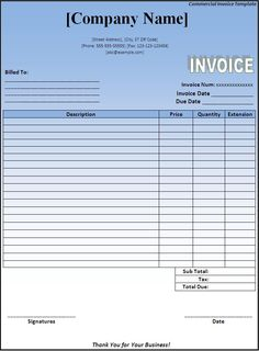 """free invoice forms 