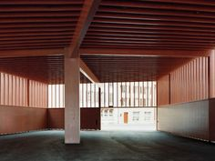 Markthalle in Aarau Roof Boards, Roof Beam, Timber Structure, Thing 1, Concrete Wood, Facade Design, Contemporary Architecture, Cladding, Construction
