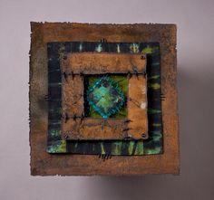 Just Call Me The Eternal Optimist   mixed media metal-fiber art, by Trish Hassler courtesy of High Desert  Gallery