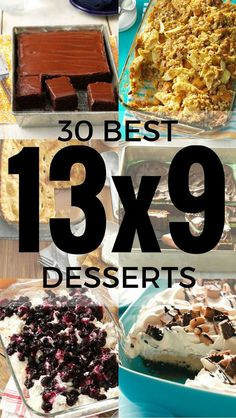 30 Desserts Made in a 13x9 Pan | Recipes from Taste of Home including: One-Bowl Chocolate Cake, Pineapple Orange Cake, Chocolate Mint Brownies, Contest-Winning Caramel Apple Crisp, Peanut Butter Custard Blast, Caramel Pecan Ice Cream Dessert and more!