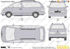 Toyota Previa dimensions