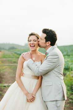 Photography : Marianne + Joe At Marianne Wilson Photography | Wedding Dress : Lazaro StyleLZ3251 In Buttercup | Photography : Abby Roll Read More on SMP: http://www.stylemepretty.com/2014/03/20/fiesta-wedding-at-maravilla-gardens/