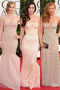 rosy champagne dresses for bridesmaids