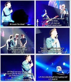 Niall had to go for a wee during last night's show..so the boys started discussing it on stage LOL i couldn't pin the gif so here is the link: http://maliksmoaning.tumblr.com/post/47259190622/so-niall-needed-a-wee-o2-5-4-13 <<< this is the best