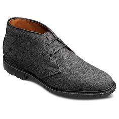 Special Edition Grey Wool Flannel Fairbanks Chukka Boots - Allen Edmonds