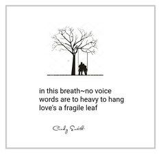 haiku ~ no voice   Cindy Smith