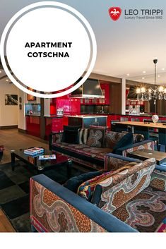 Apartment Cotschna is a colourful modern apartment right on the edge of Lake St. Lakeside View, Best Ski Resorts, St Moritz, Swiss Chalet, Best Skis, Luxury Holidays, Open Plan Kitchen, Double Bedroom, Open Plan Living