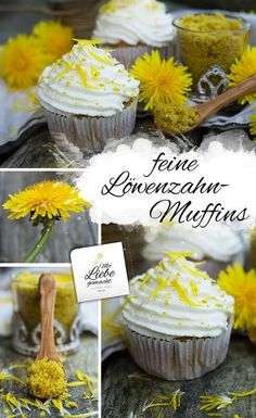 The sun is rising - dandelion muffins & dandelion sugar .- Then the sun rises – dandelion muffins and dandelion sugar sweeten life # herbal kitchen # wild herbs Healthy Muffins, Healthy Cookies, Cupcakes, Muffins Sains, Herbal Kitchen, Smoothie Recipes, Cookie Recipes, Cupcake Recipes, Dandelion