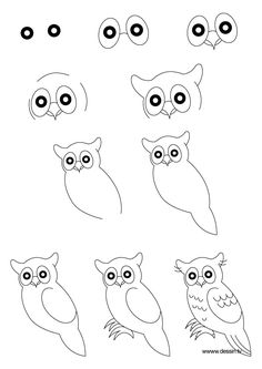 how to draw an owl - Google Search