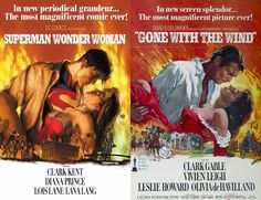 Superman-Wonder-Woman-Gone-with the wind-Cover